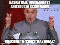 Athletic Trainers and Christmas Break