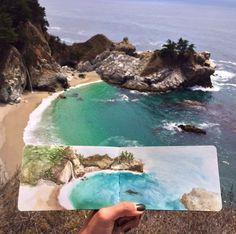 Art Teacher Paints Watercolor Landscapes Using Water Found at Her Destinations - My Modern Met