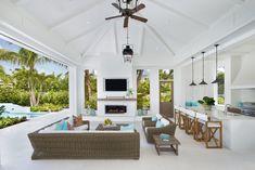 Florida Design, Florida Style, Old Florida, Florida Lanai, Naples Florida, Outdoor Living Rooms, Living Spaces, Lanai Decorating, Florida Home Decorating