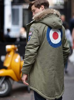 We turn to the world of Mod fashion labels, brands and menswear in this guide to the Top 5 Fashion Labels for Mods Down Parka, Parka Coat, 60s Mod Fashion, Mens Fashion, Modern Fashion, Fishtail Parka, Mod Scooter, Camisa Polo, Youth Culture
