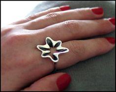 "Silver Plated ""Splash"" Ring - High Quality | eBay"