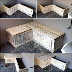 There are some areas in the home, which needs to be decorated for avoiding the empty look; so here we have an idea for the empty corner which can be used for the seating and enjoying with the family members. See the recycled wooden pallet bench idea and decide it will offer any benefit or not.
