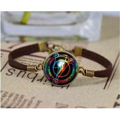 Rainbow Dash Arcane Circle My Friendship is magic MLP inspired glass cabochon dome bracelet #Affiliate