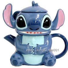 Disney Stitch Porcelain 3 in 1 Teapot + Cup & Lid w/ Filter -JAPAN