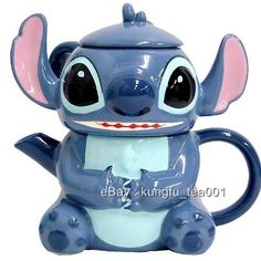 Disney Stitch Porcelain 3 in 1 Teapot + Cup & Lid w/ Filter -JAPAN