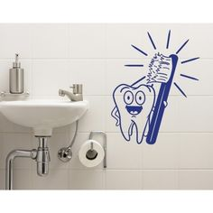 Style and Apply Brush Your Teeth Wall Decal