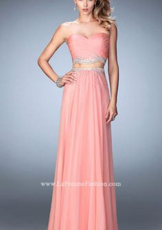 Cheap and Australia 2016 Two-piece Sweetheart Beads A Line Chiffon Ruched Floor Zipper Length Prom / Homecoming Dresses 22069 from Dresses4Australia.com.au