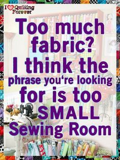 I need my own sewing room                                                                                                                                                                                 More