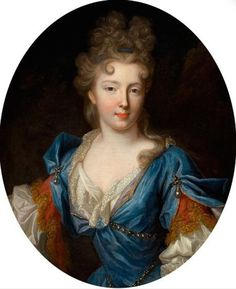 ca. 1690 Françoise Marie de Bourbon, wife of Philippe d'Orléans and daughter of Louis XIV of France by Pierre Gobert