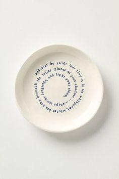 Musings Plate #anthropologie