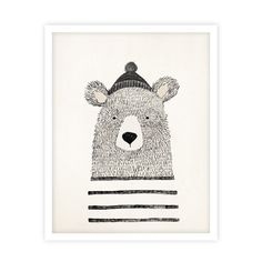 Winter Bear Print // Illustrated art print by Kelli Murray for Rylee & Cru