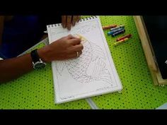 Pattern colouring using Oil pastels for beginners - YouTube