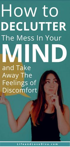 You feel like a million things are racing through your brain and you don't know why. Here's How to Declutter the Mess In Your Mind and Take Away the Feelings of Discomfort. Self Esteem Worksheets, Self Esteem Activities, Finding Purpose In Life, Life Purpose, Self Esteem Affirmations, How To Become Happy, Self Confidence Tips, Mental Health Journal
