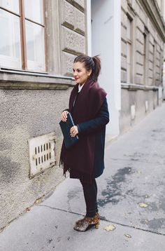 shoes ZIGN / trousers HELMUT LANG / shirt SET / scarf ACNE / coat COS (OLD) / bag VINTAGE...