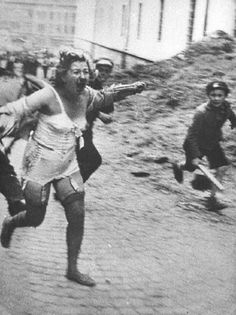 Pogroms in Lvov, Ukraine, 1941. Ukrainian mob out in a pogrom Operation against Jews.