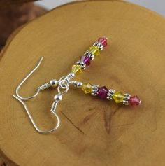 PINK LEMONADE yellow and pink surgical steel Les by OklahomaMama