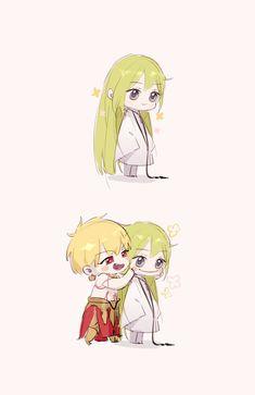 Cute Anime Pics, I Love Anime, Cute Anime Couples, Gilgamesh And Enkidu, Gilgamesh Fate, Anime Chibi, Anime Manga, Otaku, Dark Art Drawings