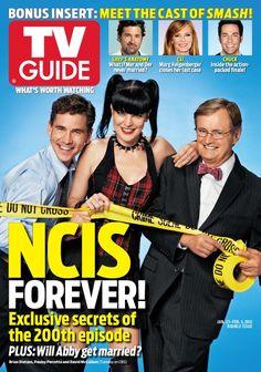 The #NCIS200 TV Guide Magazine cover - 1 of 3! Brian Dietzen, Pauley Perrette & David McCallum.