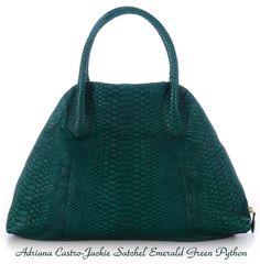 Adriana Castro - Jackie Satchel - Emerald Green Python
