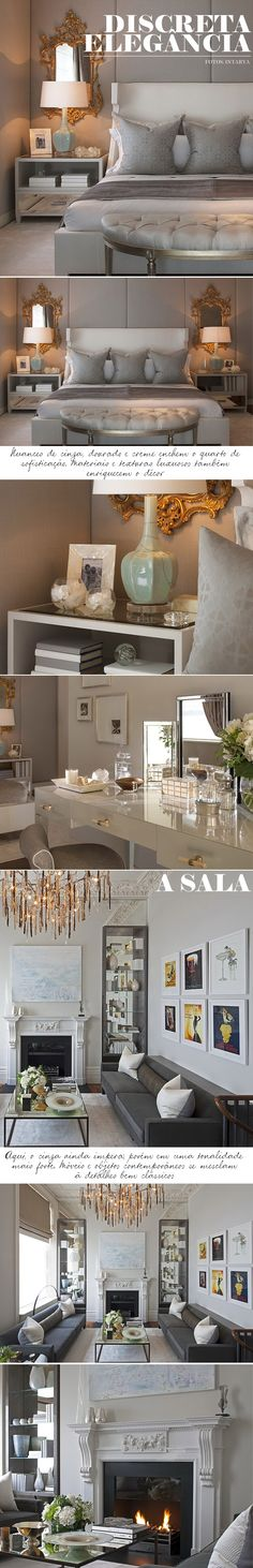Love the modern take on the posters, White frames and modern from living-gazette-barbara-resende-comodos-quarto-sala-classico-contemporaneo-elegante-discreto