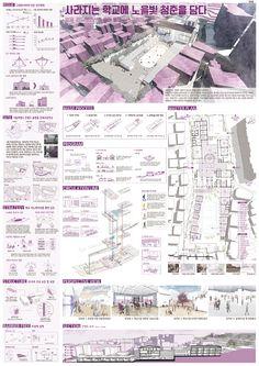 이미지를 클릭하면 창이 닫힙니다. Architecture Websites, Architecture Concept Diagram, Architecture Panel, Urban Architecture, Architecture Drawings, Presentation Board Design, Architecture Presentation Board, Architectural Presentation, Urban Design Diagram