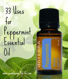 There are waaaay more than 33 uses for Peppermint Essential Oil. From home use to cooking to using for your body and mind.Peppermint is very versatile. Doterra Peppermint, Peppermint Oil, Essential Oil Uses, Doterra Essential Oils, Homemade Beauty, Natural Oils, Health And Beauty, Herbalism, Essentials