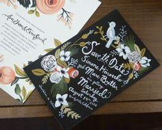 wedding invitation, I love the painted quality!