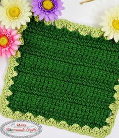 ThisLovely Linked Crochet Washcloth looks like a mature garden ripe for the picking with its raised green rows and accenting border. Crochet Shrug Pattern Free, Crochet Poncho Patterns, Crochet Amigurumi Free Patterns, Free Crochet, Crochet For Beginners Headband, Beginner Crochet Projects, Dishcloth, Garden, Spa