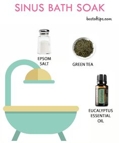 Sinus and congestion can make you uncomfortable, depressed and may also cause body pain. Nothing beats a warm cozy bath soak during the season of cold and flu. Here are some effective sinus congestion bath soaks: ORANGE CALMING BATH SOAK Things you need: To make this calming and fragrant citrusy bath soak, you need 1 cup unscented liquid castile soap, 1 tablespoon vegetable glycerine, ½ cup water and 15 drops pure orange essential oil. Method: Mix castile soap, glycerine and water in a bowl…