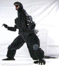Godzilla – Page 2 Legos, Monster Punch, All Godzilla Monsters, Lego Custom Minifigures, Lego Universe, Amazing Lego Creations, Dinosaur Art, Lego Design, Lego Models