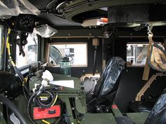 HMMWV driver looking at passenger view.