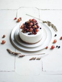 Glutenfree iced gooseberry cake
