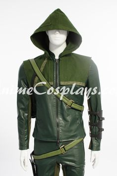 Green Arrow The second season Oliver Queen Cosplay Costume Cospaly Clothing Halloween Cosplay Costume Package including: Style One: Coat Only