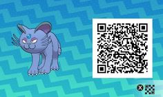 Pokemon Sun / Moon QR Codes - Persian looks a little weird 😂 Tous Les Pokemon, Pokemon Rare, My Pokemon, Pokemon Stuff, Pokemon Moon Qr Codes, Code Pokemon, Pokemon Fan Art, Pokemon Fusion, Pikachu