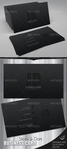 Dark business card. Link : http://graphicriver.net/item/sleek-dark-business-card/70087?s_rank=35&ref=cliccme