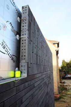 Brick Architecture, Architecture Visualization, Concept Architecture, Architecture Details, Brick Design, Facade Design, Exterior Design, Metal Facade, Brick Facade