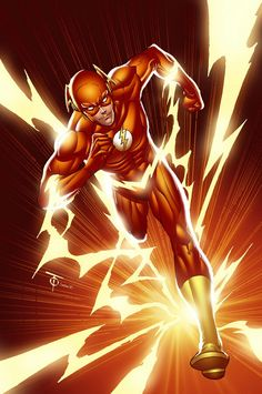In this post I will be featuring The Flash as the ninth installment of my comic book inspired artwork. The Flash is one of DC Comics' superheros. Flash Comic Book, Comic Book Heroes, Comic Books Art, Comic Art, Comic Superheroes, Book Art, The Avengers, Jw Humor, O Flash