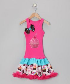 Take a look at this Hot Pink Sparkling Cupcake Dress - Toddler & Girls by Bubblegum Diva on #zulily today!