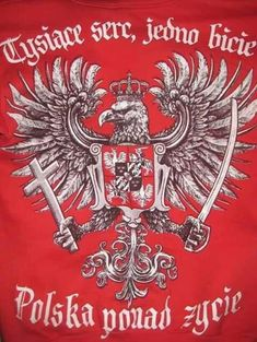 Polish Tattoos, Poland Flag, Poland History, Visit Poland, Eagle Design, Eagle Tattoos, Medieval, Coat Of Arms, Tattoos For Guys