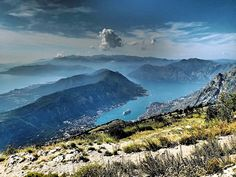 View of Bay of Kotor from Mount Lovcen, Montenegro -