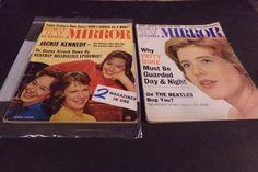 Lot 2 Vintage TV Magazine Lennon Sister Jackie Kennedy Beatles Eddie Fisher 63