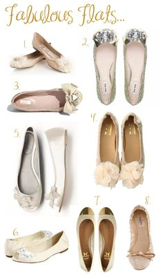Alright ladies, get ready to ditch the stilettos for a pair of fabulous wedding flats. They are a great idea for both the bride or bridal pa. Ballerinas, Bridal Shoes, Wedding Shoes, Cute Shoes, Me Too Shoes, Dressy Flats, Pumps, Heels, Stilettos