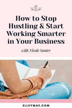 Work smarter, not harder! How to simplify your business, say no to overwhelm, and still successfully grow your business and make more money! #BusinessSuccess #BusinessFreedom