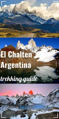 El Chalten, hiking capital of Argentina. Complete guide to htrekking in Los Glaciares National park; map, route, campsites. Fitz Roy mountain, Laguna de Los Tres, glacier Piedras blancas and more.