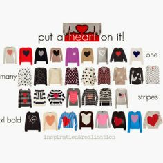 inspiration and realisation: DIY fashion blog: everyday is Valentine's day /sweaters inspiration/