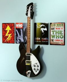 Rock n Roll Decor... probably stick with our favorites rather than theirs, that way they may grow up to like good music!