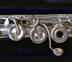 John Lunn Art Nouveau Handmade Sterling Silver Flute #139 – Used Flute