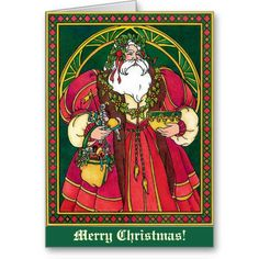 Victorian St Nicholas Christmas Card by Sand Creek Ventures