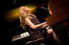 Diana Krall performs on stage at JuanLesPins Jazz Festival on July 19 2013 in JuanlesPins France