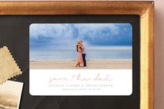 """""""Noted"""" - Classical, Modern Save The Date Magnets in Smoke by Sara Hicks Malone."""